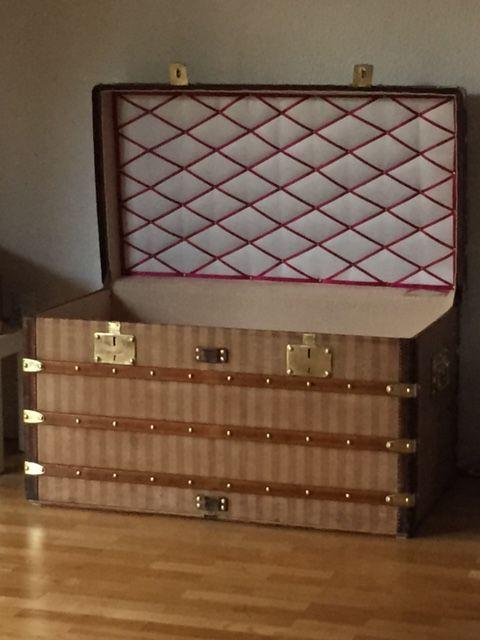 Louis Vuitton Truhe Steamer Trunk Malle Courier Rayee