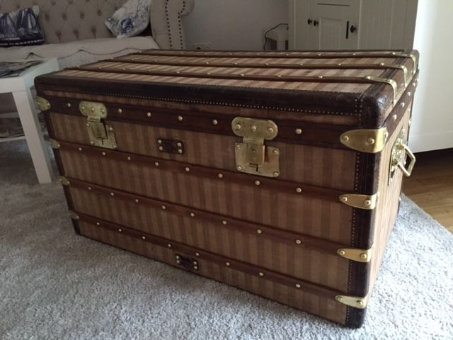 Louis Vuitton Truhe Steamer Trunk Malle Courier Rayee