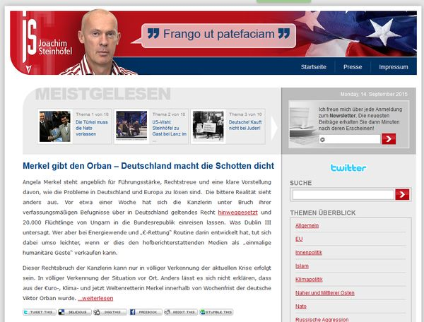 Screenshot Blog Joachim Steinhöfel
