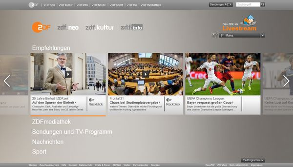 Website ZDF