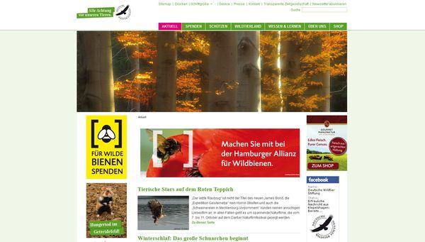 Die Deutsche Wildtierstiftung setzt sich Umwelt- und Tierschutz ein
