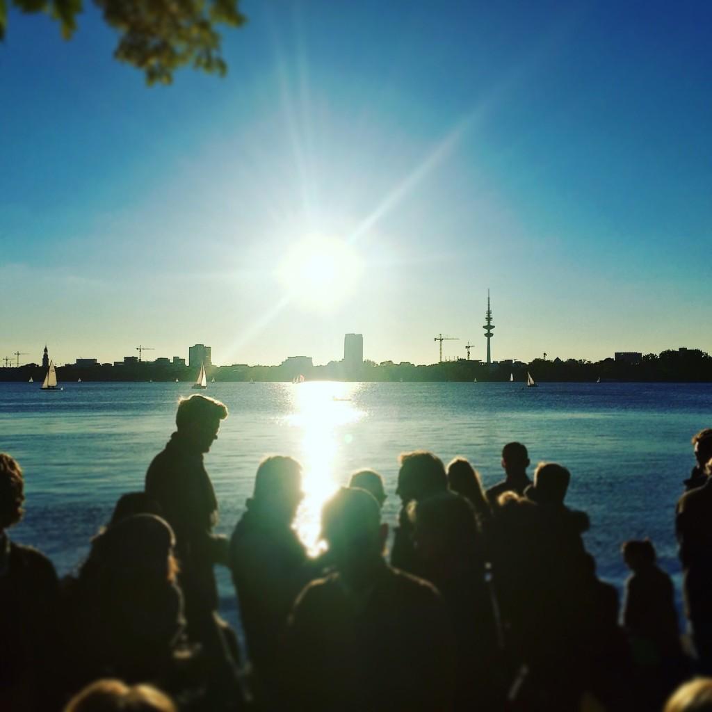 Hamburg Blick über die Alster