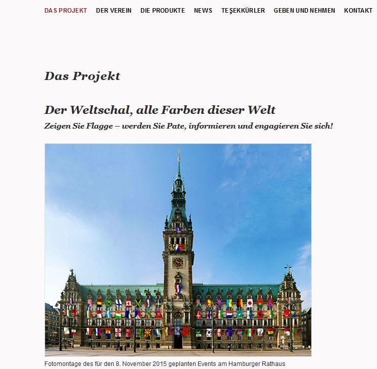 Screenshot der Website Made in Veddel