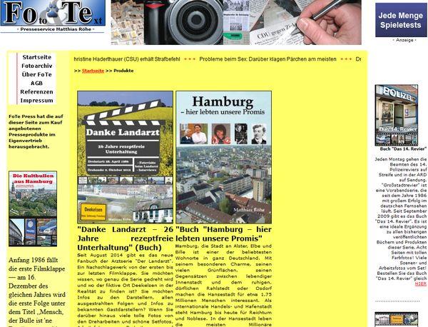 Website von Mathias Röhe, Hamburgs Promi-Fachmann Nr. 1