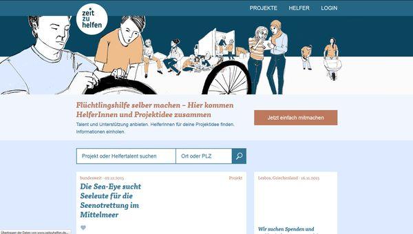 Die Website zeitzuhelfen.de bringt Helfer und Hilfesuchende zusammen