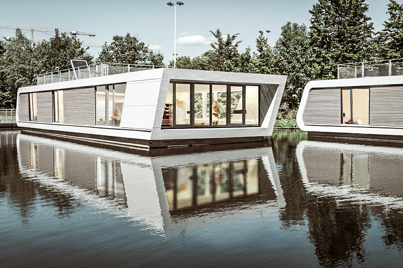 Floating Homes: Hamburgs schwimmende Häuser