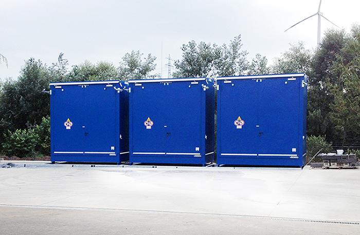 Neubau eines Gefahrstofflagers fertiggestellt