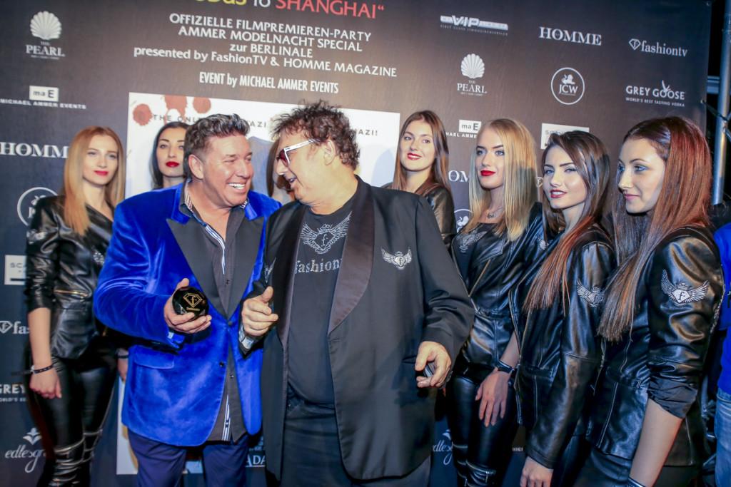 Michael Ammer, Michel Adam und Fashion TV Models