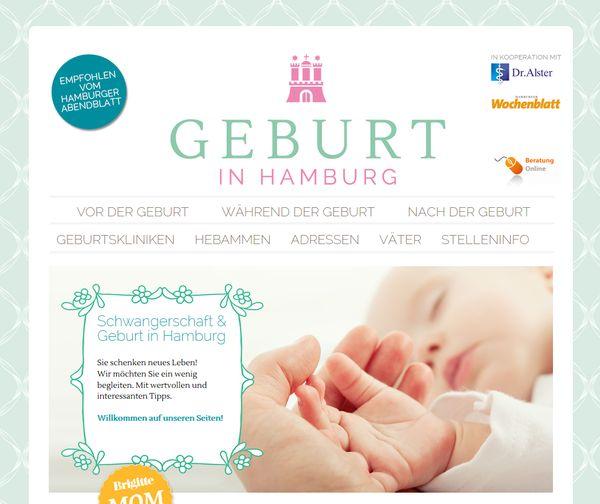 """Das Hamburger Schwangerschafts- und Geburtsportal """"Geburt in Hamburg"""""""