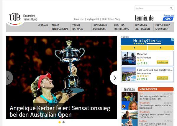 Der Deutsche Tennisbund gratuliert