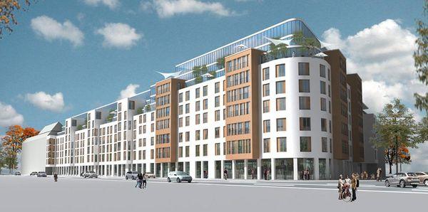 Visualisierung des neuen Quartiers an der Stresemannstraße in Hamburg