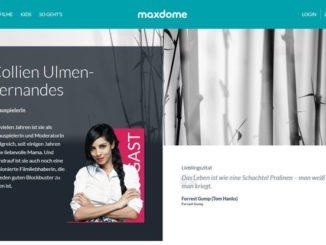 Maxdome mit neuem Testimonial Collien Ulmen-Fernandes