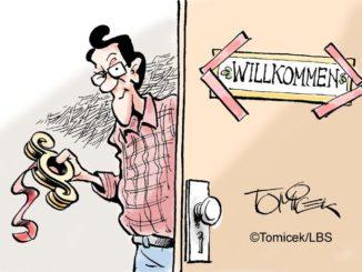 Vermieter konnte Schild an der Wohnungstüre nicht verbieten