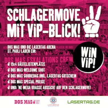 VIP-Platz in DER Kiez Location für den Schlagermove in Hamburg gewinnen