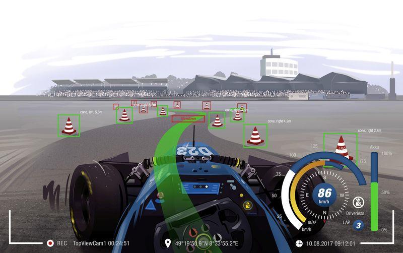 Es gibt eine neue Wettbewerbsklasse Formula Student Driverless (FSD) im kommenden Jahr
