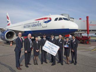 British Airways feiert 70. Jubiläum auf der Route Hamburg-London