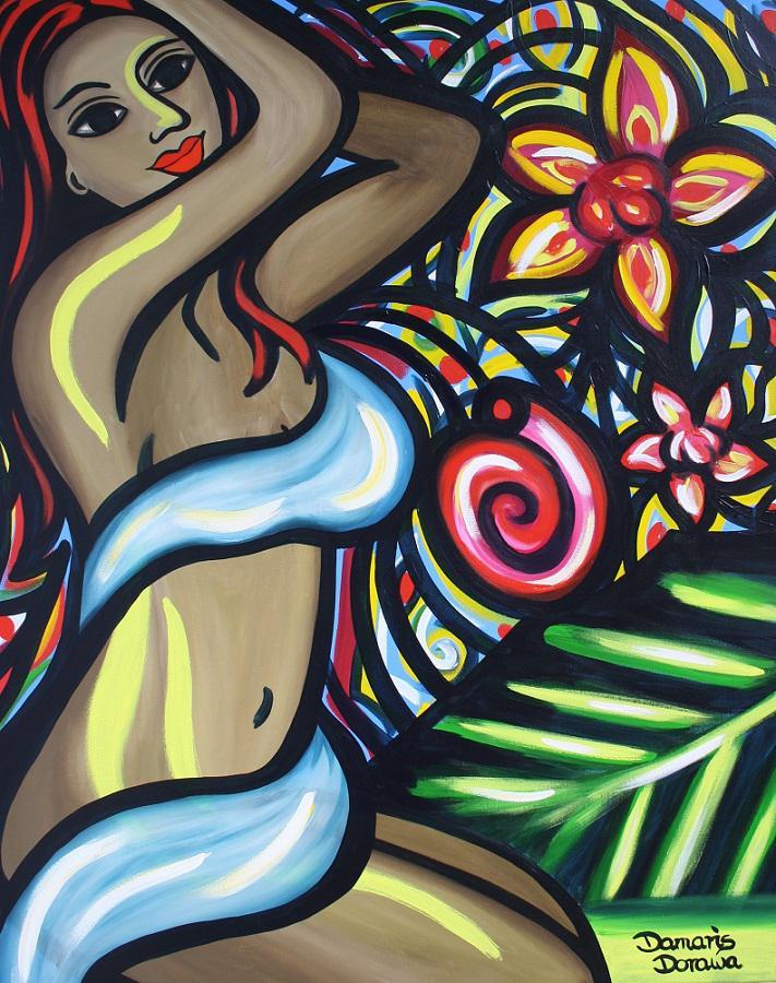 """Das Bild """"Caribbean Night"""" wird am Wochenende in Hamburg zu sehen sein"""