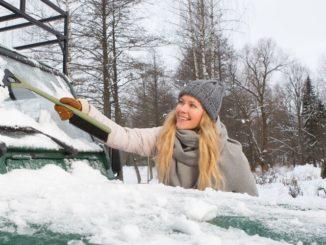 Ökologische Winterprodukte für Autofahrer
