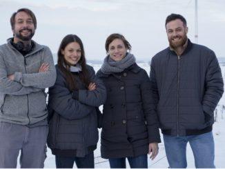 Nils Loof (Regisseur), Hauptdarstellerin Julia Hartmann (Rolle: Julia), Rike Steyer (Produzentin) und Schauspieler Bernhard Piesk (Rolle: Felix)