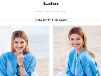 Nina Bott als Model für Kabo Bags
