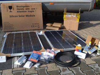 Solaranlage für ein Wohnmobil