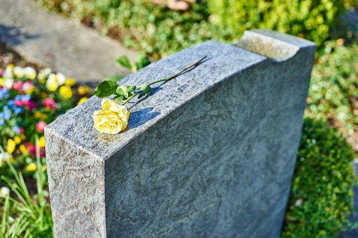 Ein Stein im Gedenken an einen lieben Menschen