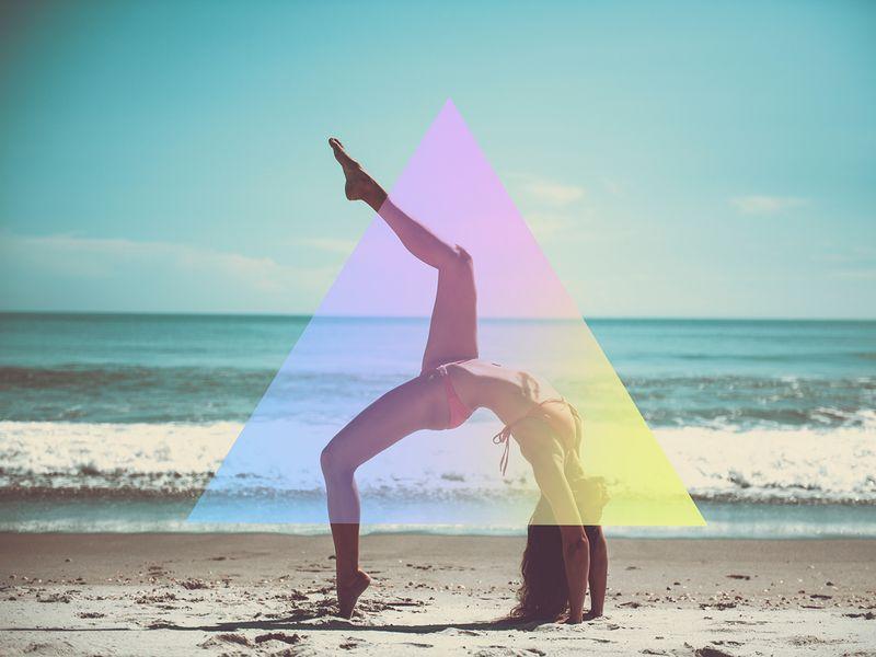 Entspannung pur - Yoga am Strand