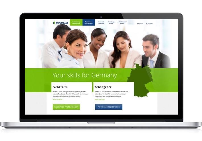 Online-Vermittlung ausländischer Fachkräfte nach Deutschland