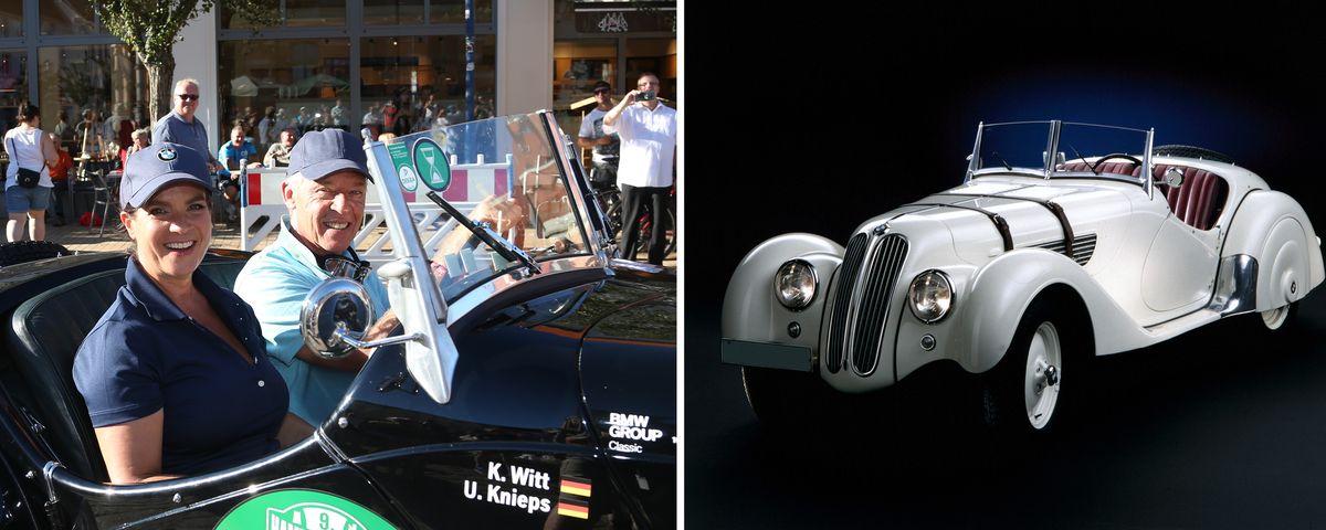 Katarina Witt ist drei Tage lang Co-Pilotin in einem BMW 328