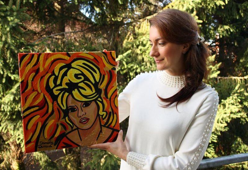 Madame Brigitte ist eines der Pop-Art-Porträts in der Galerie arthausfamily