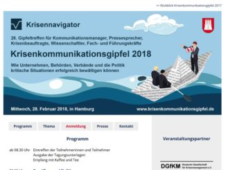 Rund 150 Pressesprecher und Krisenmanager treffen sich zum Krisenkommunikationsgipfel 2018