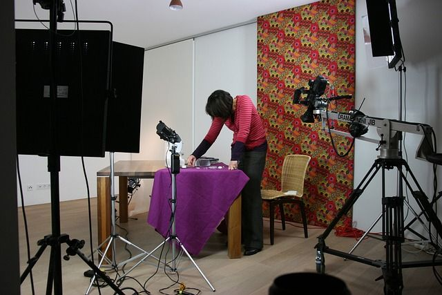Filmset für eine Werbefilmproduktion