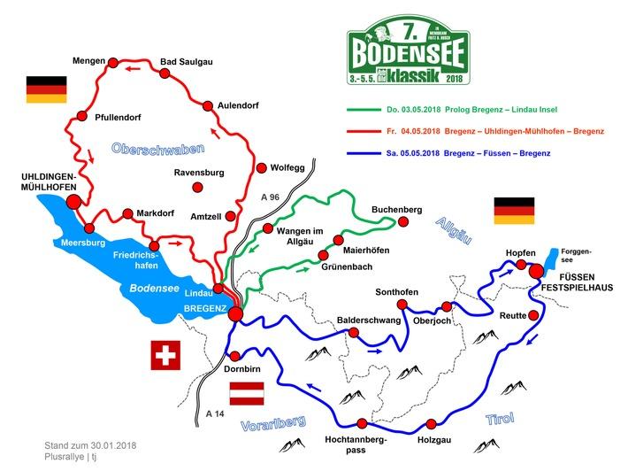 Die Strecke der 7. Bodensee-Klassik 2018 bietet den Teilnehmern immer wieder einen wunderschönen Ausblick auf den Bodensee