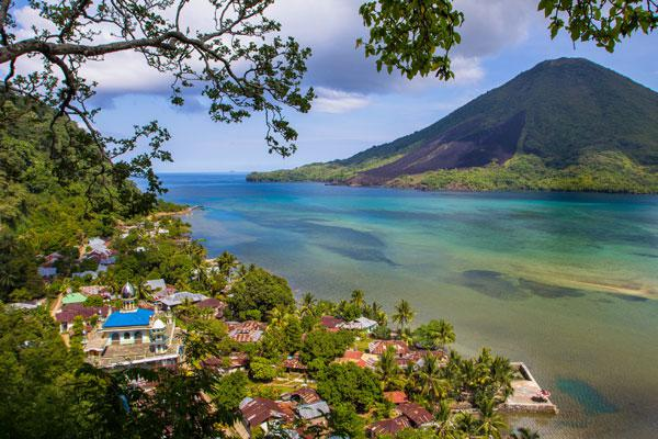 Die Gewürzinseln in Indonesien