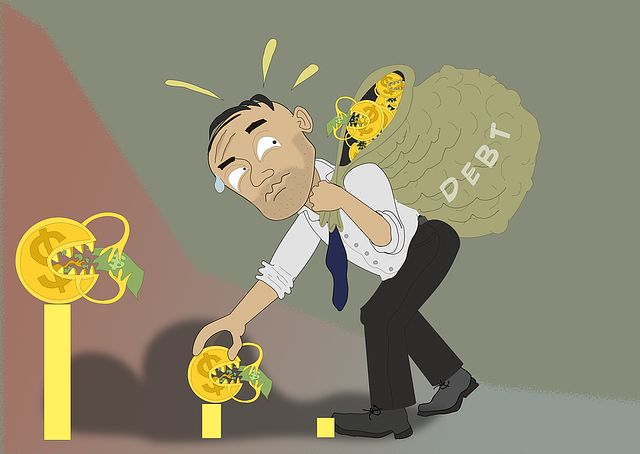 Schulden belasten die Bonität
