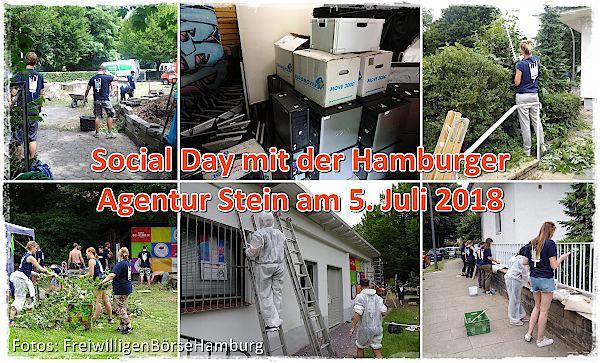 Social Day der FreiwwilligenBörseHamburg mit der Hamburger Agentur Stein