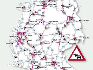 Die aktuelle Stausituation auf Deutschlands Autobahnen