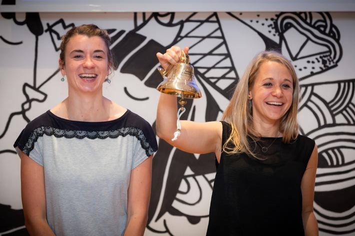 Marie-Lene Armingeon (li.) und Miriam Schütte sind die Gewinnerinnen des 3. MarkenSlams