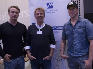 Christoph Kastenholz (Pulse Group), Peter Brawand (Marketing Club Hamburg e.V.) und Hendrik Martens