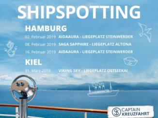 Captain Kreuzfahrt weiss wo es die besten Plätze für Shipspotting gibt