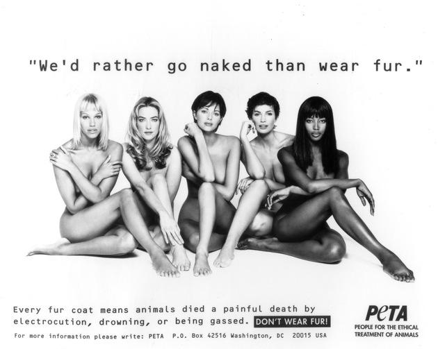 25 Jahre früher: Emma Sjöberg, Tatjana Patitz, Heather Stewart-Whyte, Fabienne Terwinghe und Naomi Campbell (von links nach rechts)