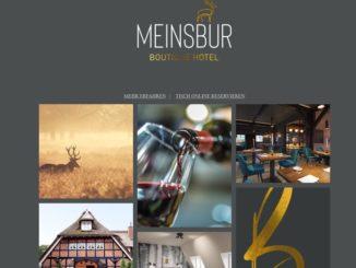 Screenshot Website Hotel Meinsburg