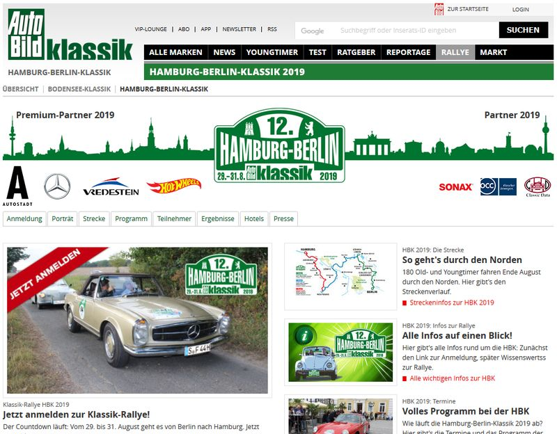 Screenshot Website www.hamburg-berlin-klassik.de