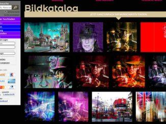 Udo Lindenberg Fan-Artikeln und Fotocollagen