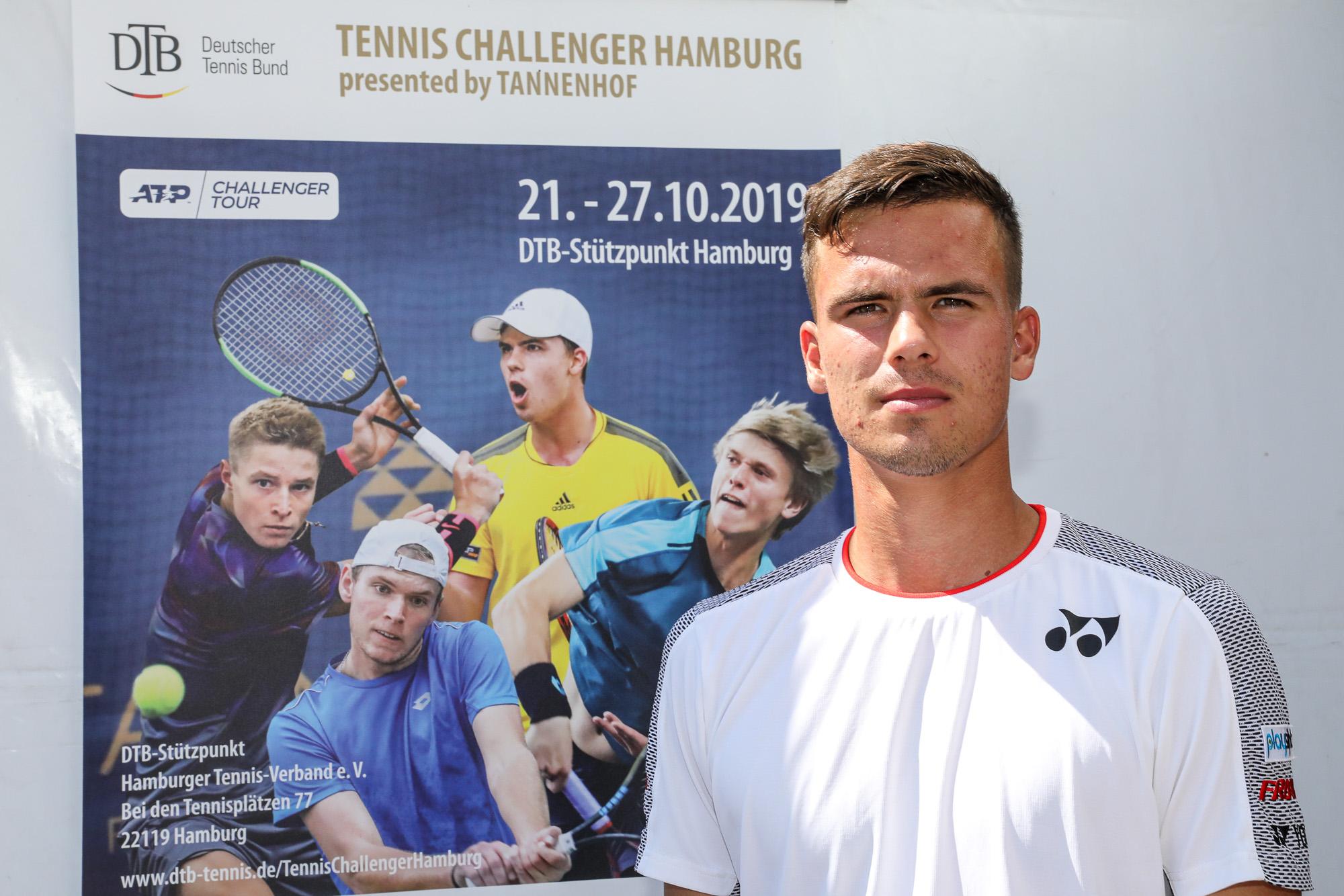 Daniel Altmaier freut sich schon auf das Tennis Challenger Hamburg 2019.