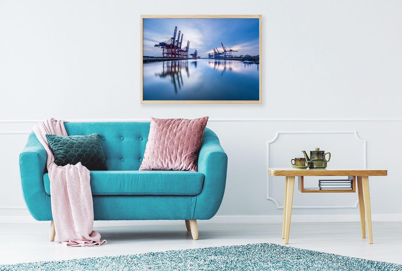 Poster Hamburg Hafen im Wohnzimmer