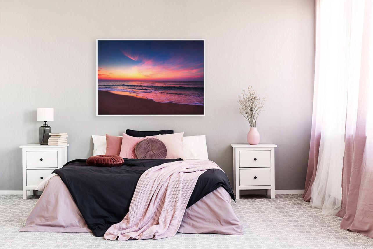 Poster Sonnenuntergang im Schlafzimmer