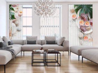 Lamellenvorhänge lassen sich perfekt in eine moderne Raumgestaltung integrieren