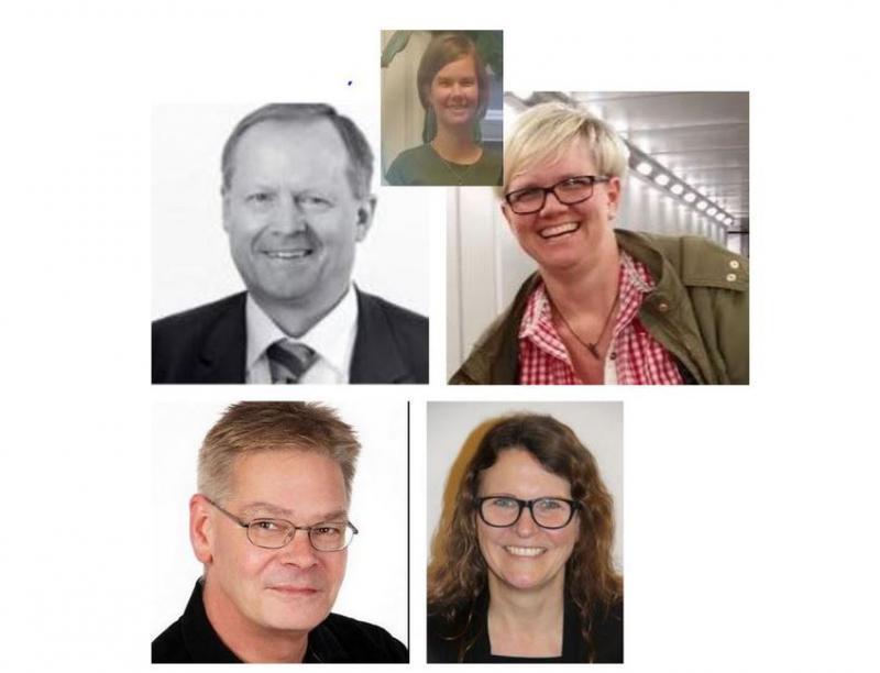 Maik Findeisen, Ramona Sump, Sylvia Wehde und Karsten Gödicke