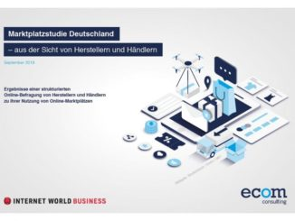 ecom consulting Marktplatzstudie Deutschland 2019